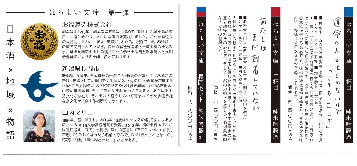 ほろよい文庫/長岡市/お福酒造の説明
